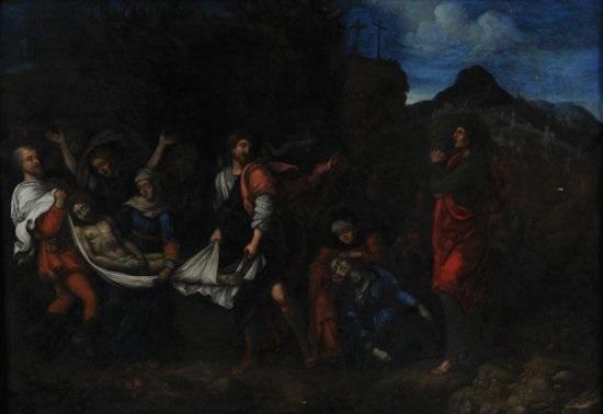 la mise au tombeau by andrea mantegna