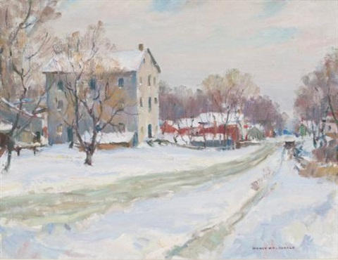 early winter shannonville by manly edward macdonald