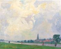 view of rhenen by hendrik jan wolter