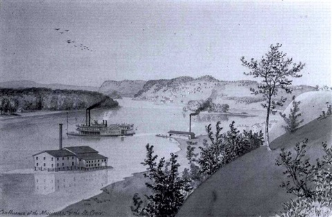 approach to la crosse wiscon sin and confluence of the mississippi and st croix two works by edwin whitefield