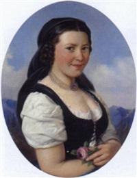 portrait einer großbäuerin by friedrich krepp