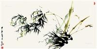 竹图 by liu zuoren