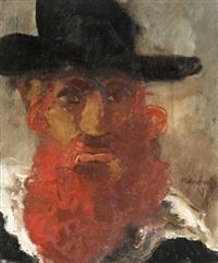 hassid a la barbe rousse by mané-katz
