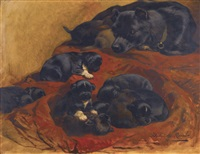 the proud mother by henriette ronner-knip