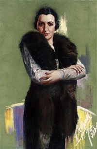 portrait of a lady by fidelio ponce de león