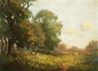 summer landscape by joseph de camp