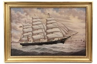 portrait of the sailing ship iroquois by percy a. sanborn