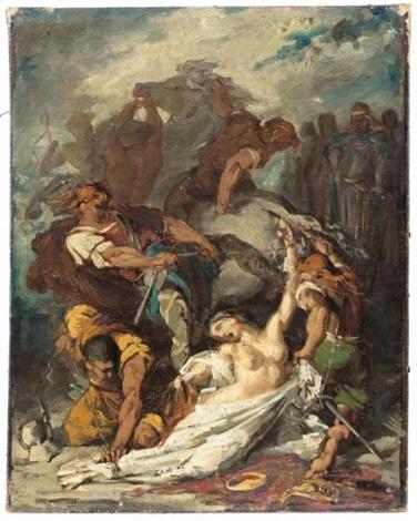 l'exécution de brunehaut, reine de france by alphonse marie de neuville