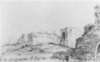 view of the kruyspoort at haarlem by laurens vincentsz van der vinne the elder