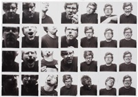 untitled (self-portrait for andy warhol) (28) by mark grotjahn