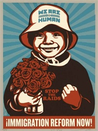 immigration reform now by shepard fairey