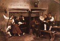 dancing in the tavern by adolfo aguila acosta