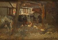 koeien in de stal by marten melsen