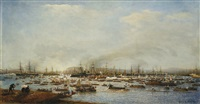 the entrance of the russian fleet into toulon harbour by aleksei petrovich bogolyubov