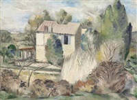 the french farm by paul nash