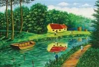 canal dans la forêt by camille bombois