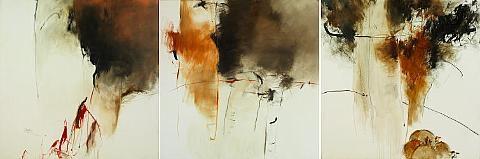 untitled triptych by farideh lashai