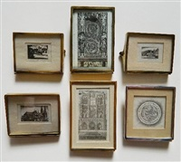 notre dame the tiny; nativity; spanish jewelry; chartres in miniature; triangular bridge; patzcuaro (brooch series set) (5 works) by john taylor arms