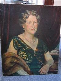 portrait of a woman with a fur stole by felix albrecht harta