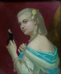 portrait de femme au masque by théodore fantin-latour