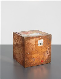 24-inch copper (fedex® large kraft box © 2005 fedex 330508), international priority, los angeles-london trk# 868587728039, date october 2 - 6, 2009... by walead beshty