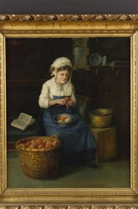 peeling apples by b. maie weaver