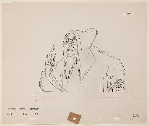 the wicked stepmother as the old hag animation drawing for snow white and the seven dwarfs by walt disney