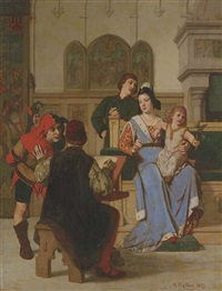 the jester's message by wilhelm (guillaume) koller