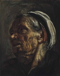 head of an old woman by hendrick terbrugghen