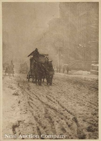 winter fifth avenue by alfred stieglitz
