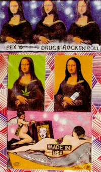 mona lisa, marilyn monroe, venus and lubricating jelly by pietro psaier and andy warhol
