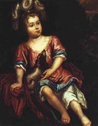 bildnis eines kindes mit einem hund by daniel haringh
