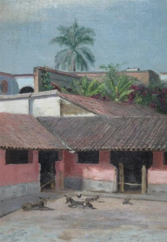 mexican scene by townley benson