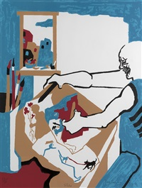 artist in studio by jacob lawrence