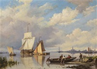 harbor scene by hermanus koekkoek the elder