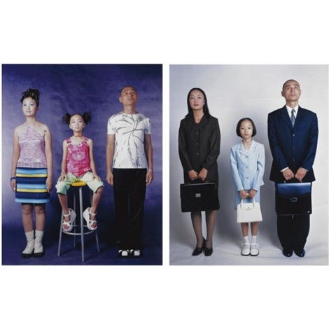 in fashion and white collar job (from family aspirations)(2 works) by weng fen (weng peijun)