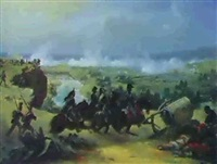 kavaleriangreb i bjergrigt landskab by jean langlois