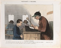professeurs et moutards (album di 32 opere) by honoré daumier