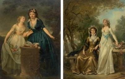 les deux amies les deux soeurs various sizes pair by marguerite gérard