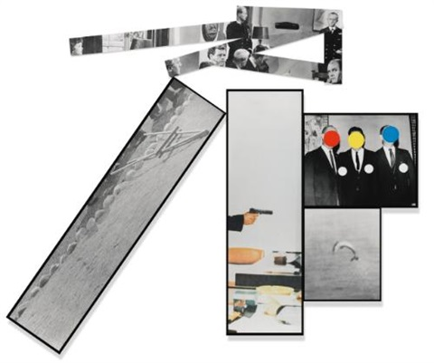 the fallen easel in 9 parts by john baldessari