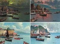 a port on the neapolitan coast by fortunato fontana