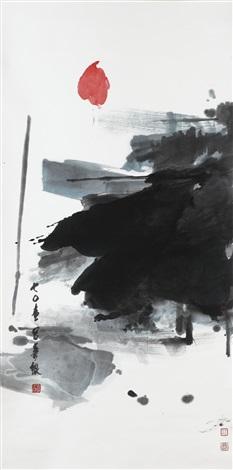 Lotus Ii Zen Painting By Lui Shou Kwan On Artnet