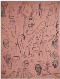 compositions en dessin automatique (recto/verso) by tristan tzara