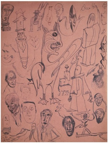 compositions en dessin automatique rectoverso by tristan tzara