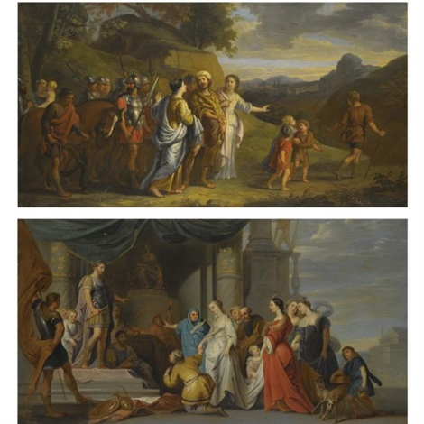 coriolanus begged to spare rome the magnanimity of scipio pair by erasmus quellinus the younger