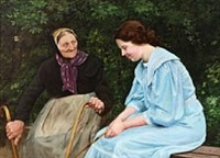 two ladies chatting by emilie (caroline e.) mundt