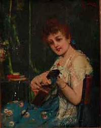 young lady and her music by adolfo bacci