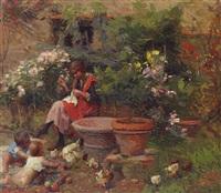 in the garden by carlo facchinetti