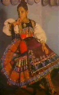 jeune paysanne espagnole by lucienne leroux