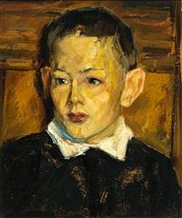 porträt eines jungen by georg hermann gelbke